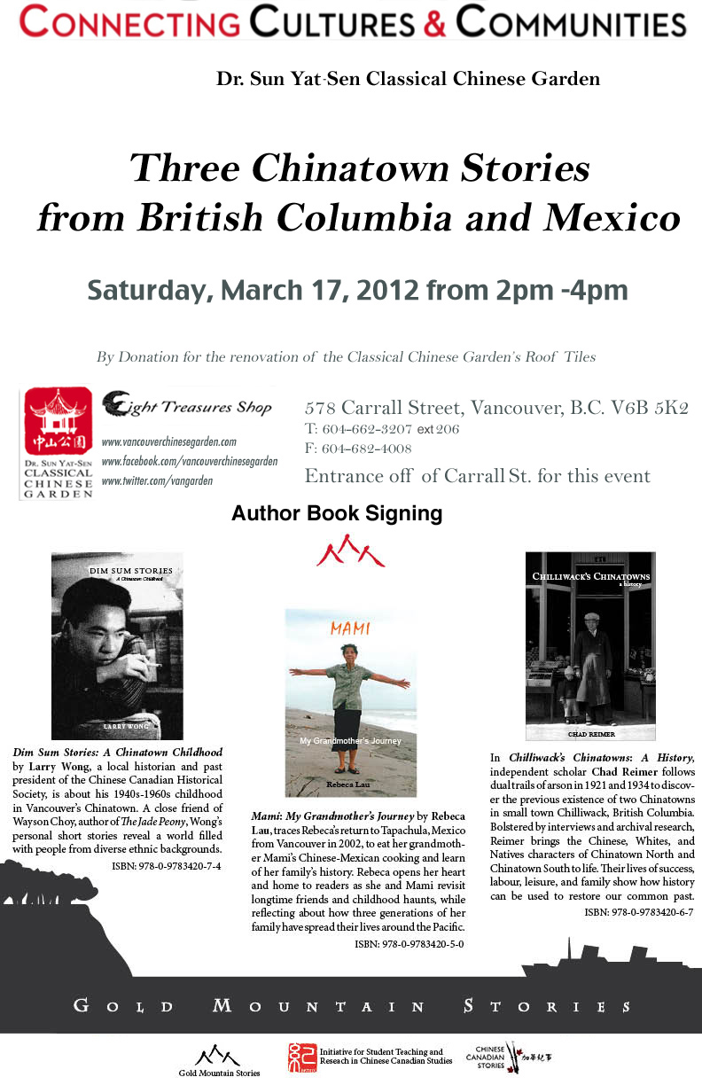 March 17, 2012 Book signing